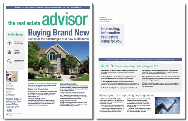 Real Estate Newsletter Templates Best Of Real Estate Advisor Newsletter Template Volume 3 issue 2