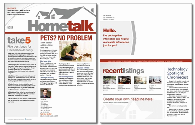 Real Estate Newsletter Templates Elegant Real Estate Newsletter Templates