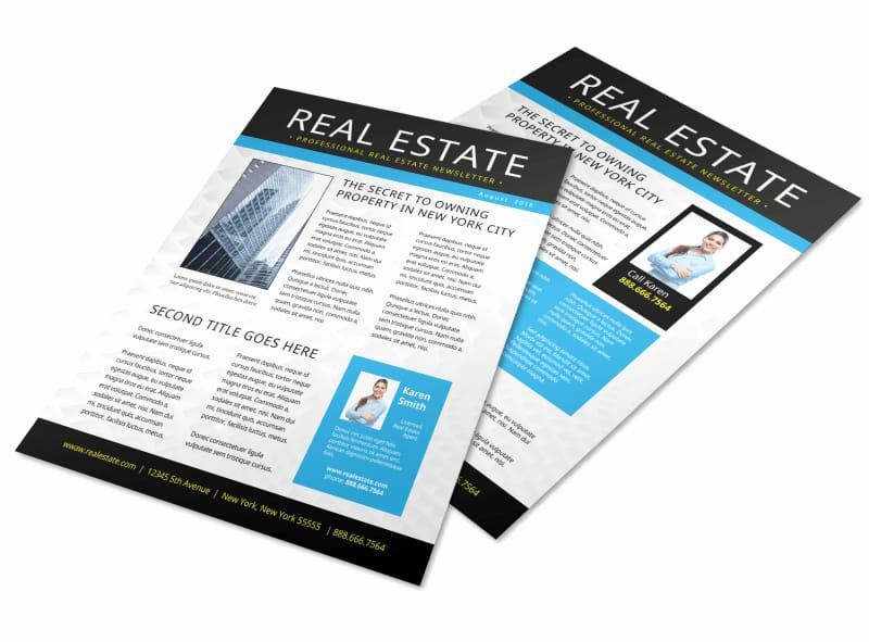 Real Estate Newsletter Templates Fresh Newsletter Templates