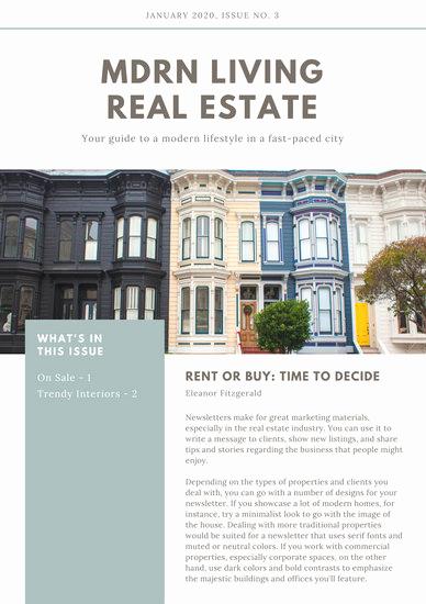 Real Estate Newsletter Templates Inspirational Design Templates Canva