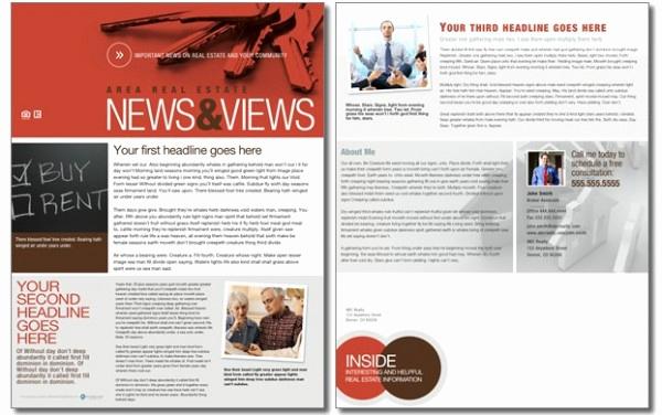 Real Estate Newsletter Templates Inspirational Real Estate Newsletters