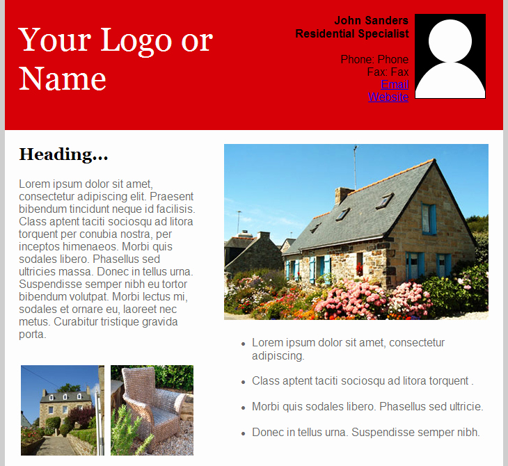 Real Estate Newsletter Templates Lovely Email Templates for Real Estate Newsletters and Marketing