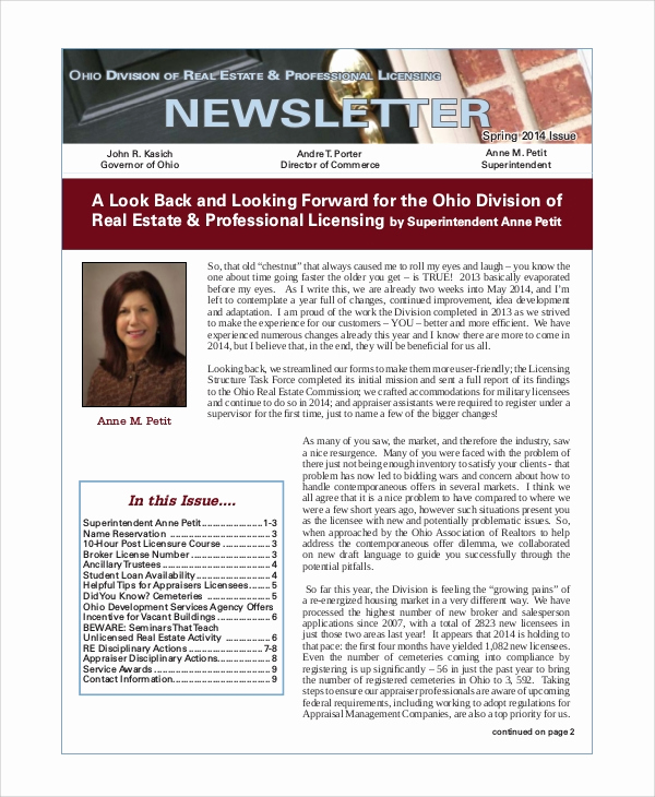 Real Estate Newsletter Templates Luxury 5 Sample Real Estate Newsletters