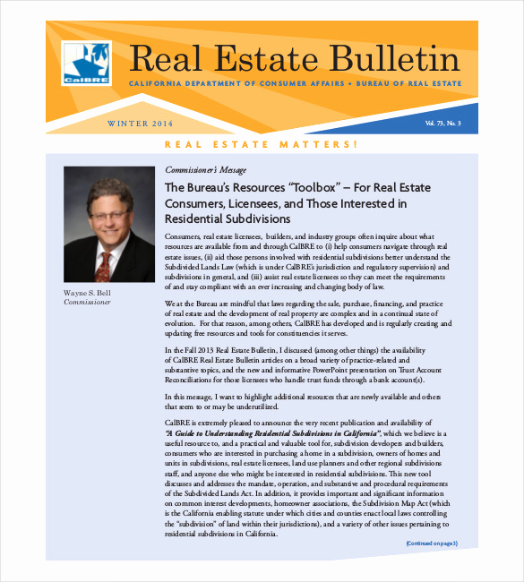 Real Estate Newsletter Templates Luxury 9 Real Estate Newsletter Templates Free Sample Example