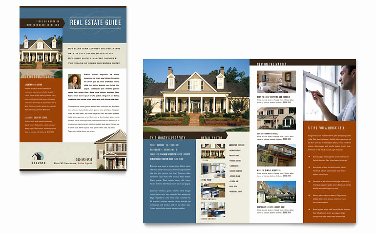 Real Estate Newsletter Templates New Residential Realtor Newsletter Template Word & Publisher
