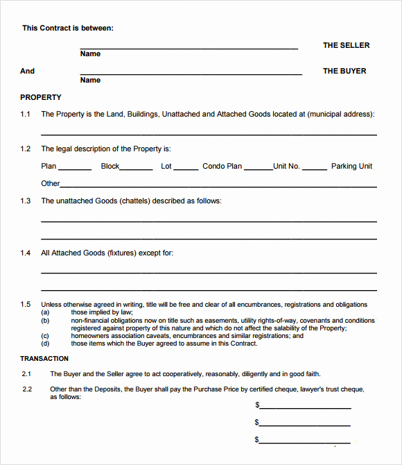 Real Estate Offer form Awesome Sample Fer to Purchase Real Estate form 9 Documents