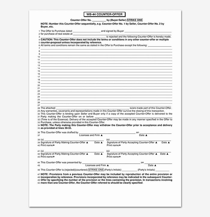 Real Estate Offer form Best Of 10 Real Estate Fer forms Free Printable forms