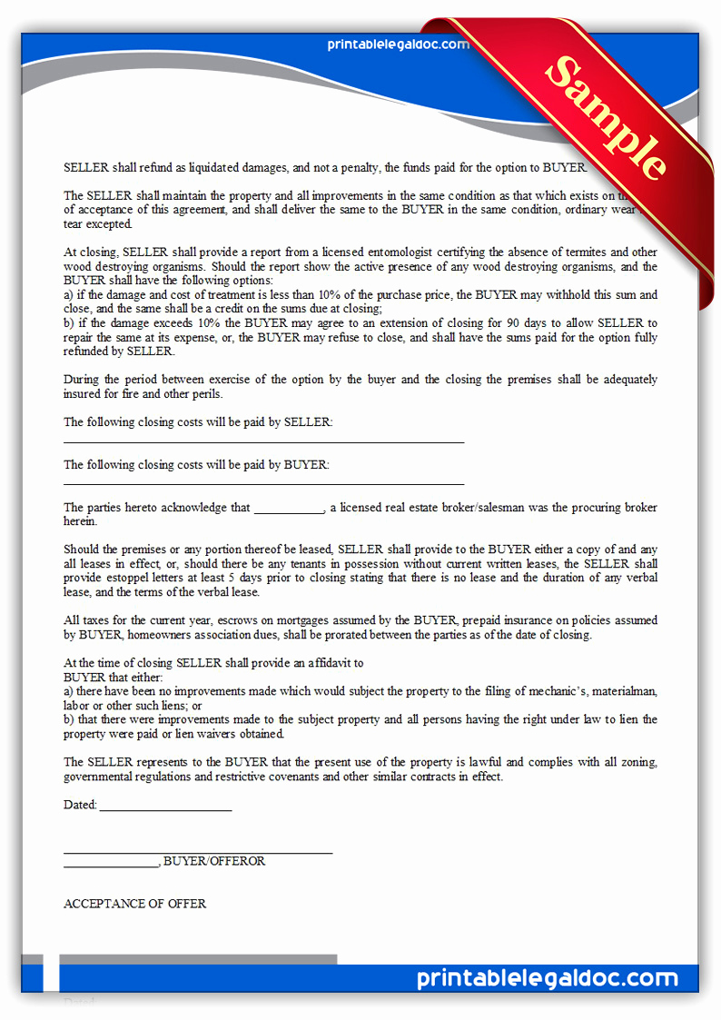 Real Estate Offer form Best Of Free Printable Fer to Purchase Real Estate form Generic