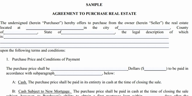 real estate purchase agreement pdf