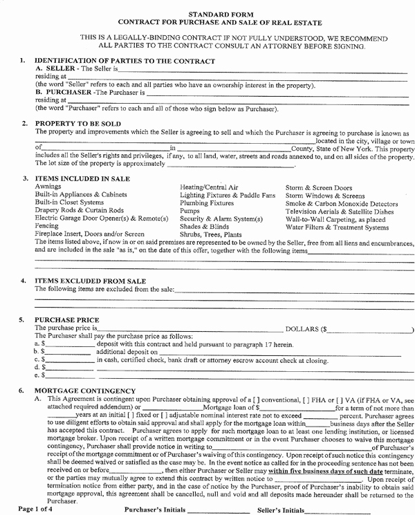 Real Estate Offer form Lovely Download New York Fer to Purchase Real Estate form for