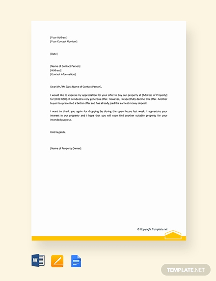 Real Estate Offer Letter Template Inspirational Free Letter Template Of Intent for Real Estate Download