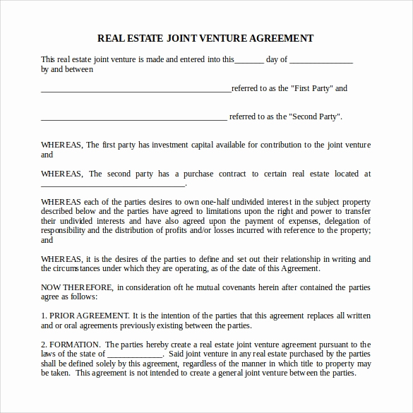 Real Estate Partnership Agreement Beautiful 10 Real Estate Partnership Agreement Templates to Download