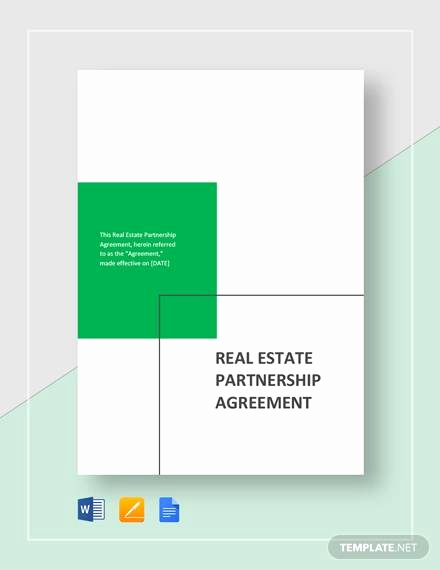 Real Estate Partnership Agreement Best Of Sample Partnership Agreement 15 Examples In Pdf Word