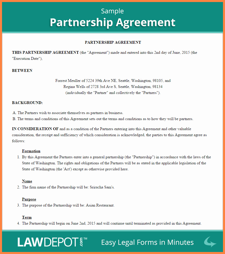 Real Estate Partnership Agreement Elegant 8 Real Estate Partnership Agreement Template