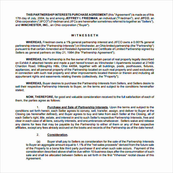 Real Estate Partnership Agreement Lovely 10 Real Estate Partnership Agreement Templates to Download