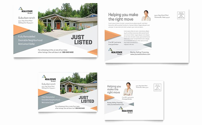 Real Estate Postcard Templates Awesome Marketing Materials for Realtors – Diy Printable Templates