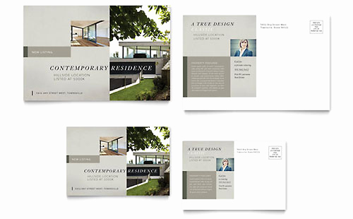 Real Estate Postcard Templates Awesome Real Estate Postcard Templates Word & Publisher