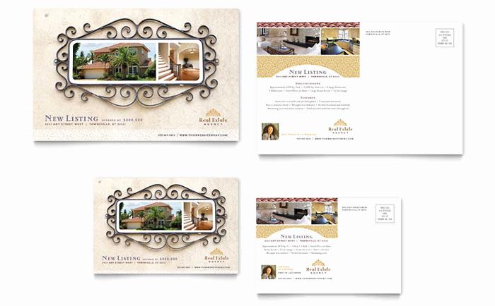 Real Estate Postcard Templates Fresh Luxury Real Estate Postcard Template Design