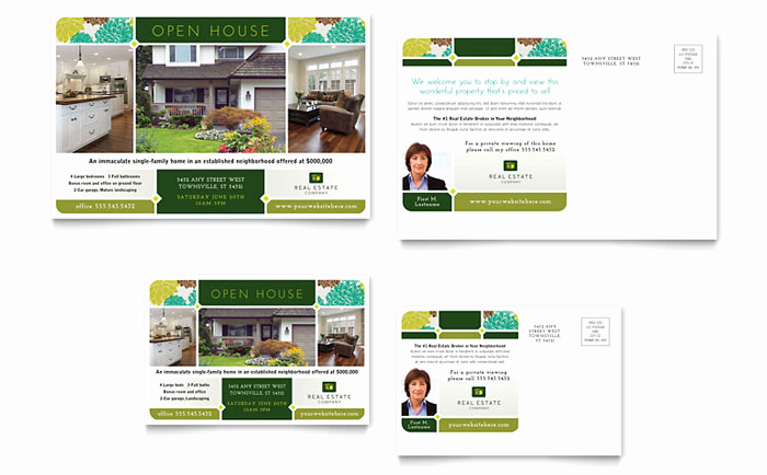 Real Estate Postcard Templates Inspirational Real Estate Postcard Template Design