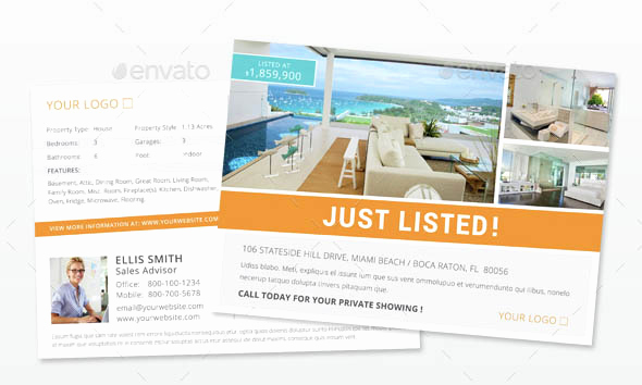 Real Estate Postcard Templates Lovely Indesign Flyer Templates top 50 Indd Flyers for 2018