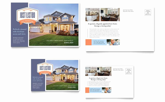 Real Estate Postcard Templates Luxury Real Estate Marketing Postcards – Quick & Easy Templates