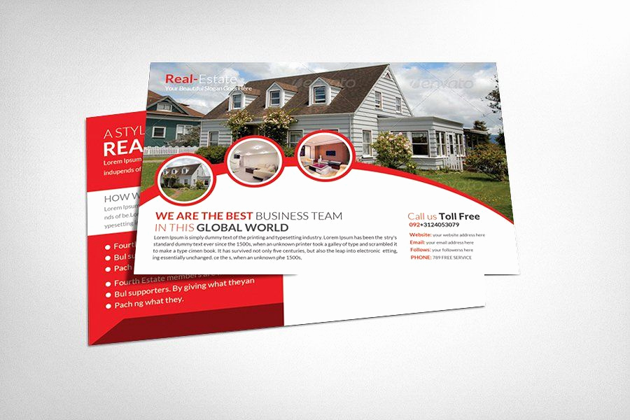Real Estate Postcard Templates Luxury Real Estate Postcard Template by Business Templates On