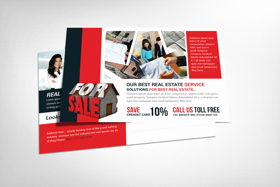 Real Estate Postcard Templates New Real Estate Postcard Template Card Templates On Creative