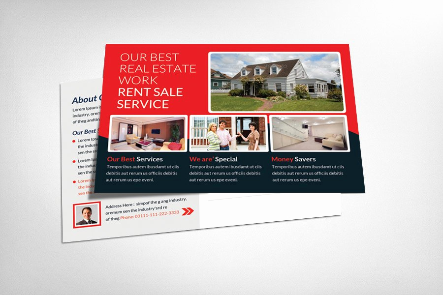 Real Estate Postcard Templates Unique Real Estate Postcards Template Card Templates Creative