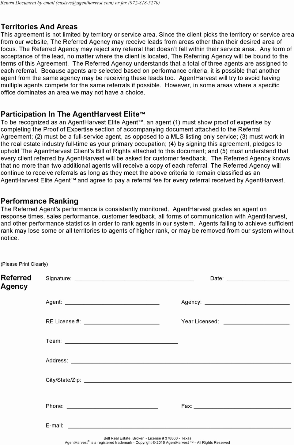 Real Estate Referral form Best Of Agentharvest Elite Agent Real Estate Client Referral