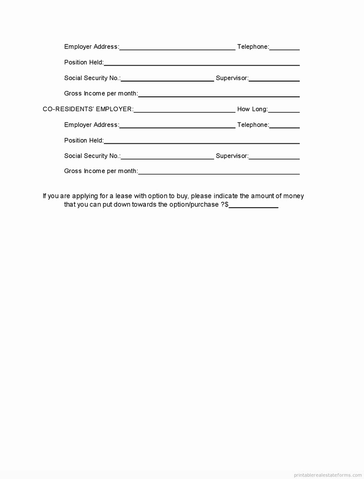 Real Estate Referral form Elegant Printable Tenant Rental Application Template 2015