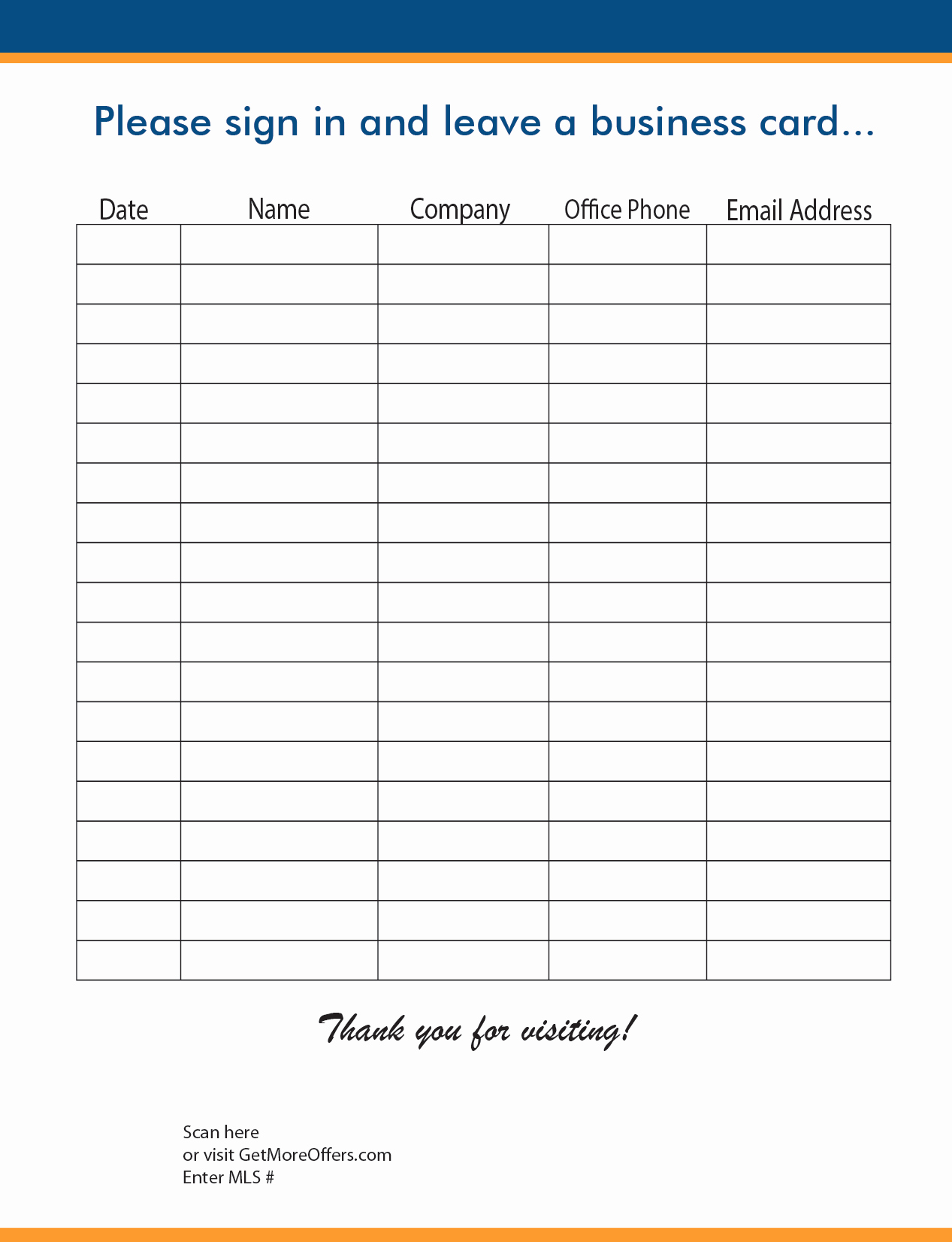 Real Estate Sign In Sheet Beautiful Open House Realtor Sign In Sheet Template