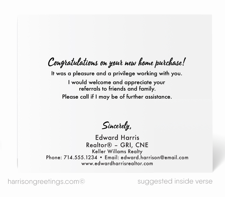 Real Estate Thank You Notes Best Of Thank You Card for Clients From Realtor [ ] Harrison