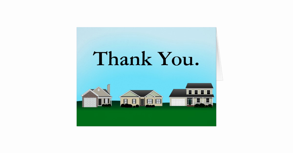 Real Estate Thank You Notes Elegant Real Estate Thank You Notes