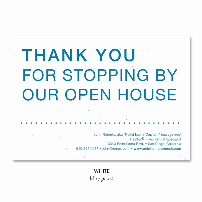 Real Estate Thank You Notes Unique Unique Open House Realtors Thank You Cards On Seeded Paper