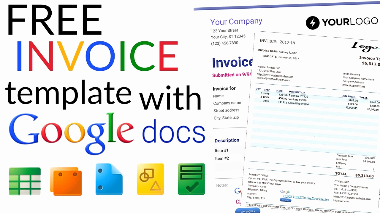 Receipt Template Google Docs Awesome Free Invoice Template How to Create An Invoice Using