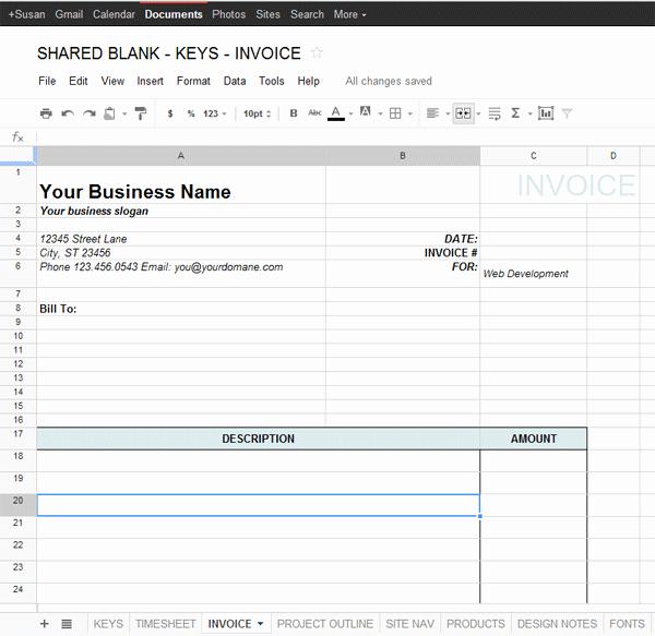 Receipt Template Google Docs Elegant Google Docs Invoice Template