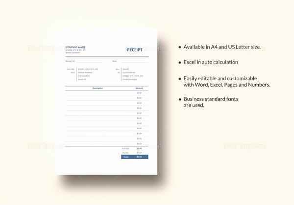 Receipt Template Google Docs Lovely 39 Receipt formats