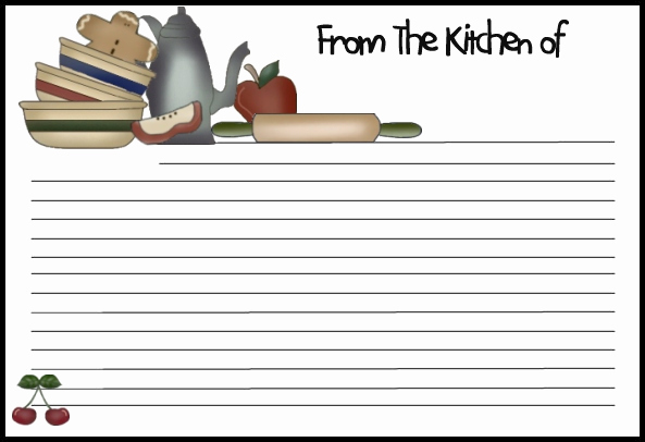 Recipe Card Templates for Word Elegant 13 Recipe Card Templates Excel Pdf formats