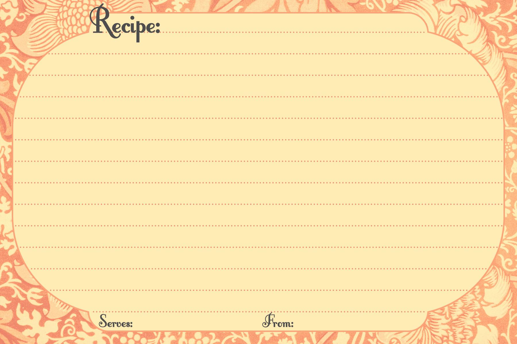 Recipe Card Templates for Word Elegant Free Printable Recipe Cards