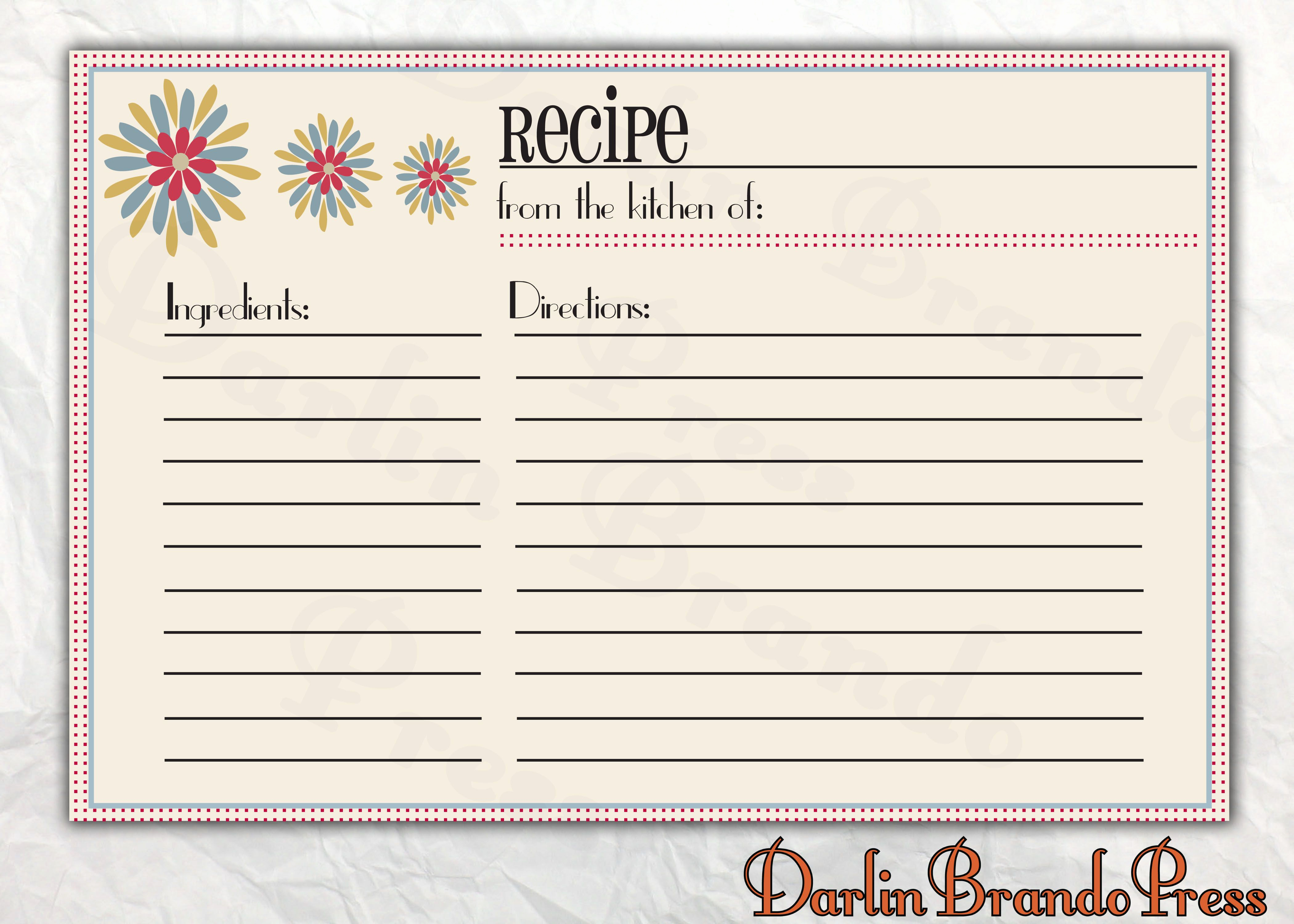 Recipe Card Templates for Word Elegant Recipes Card Templates Word Cooking Baking