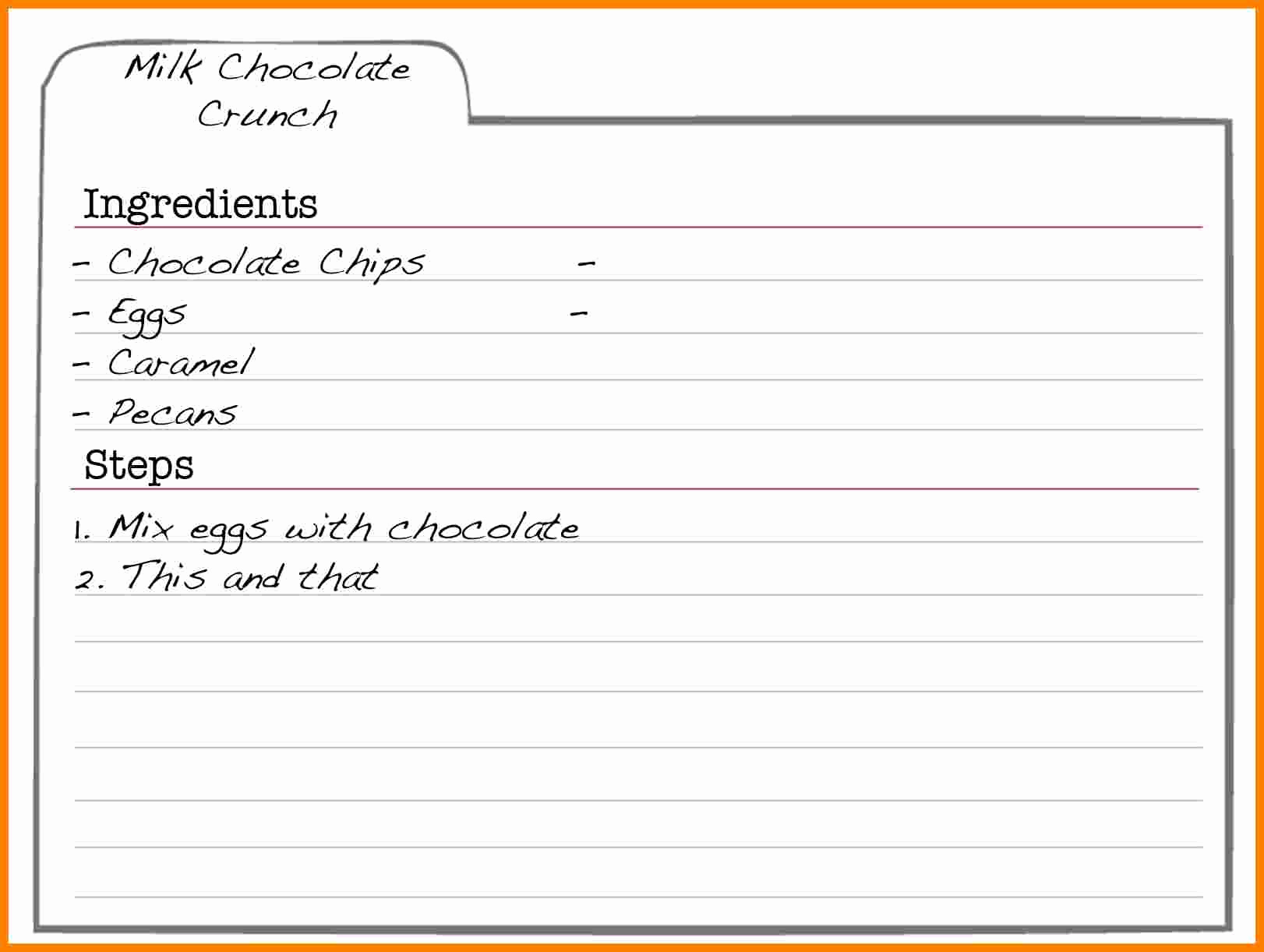 Recipe Card Templates for Word Inspirational 5 Free Editable Recipe Card Templates for Microsoft Word