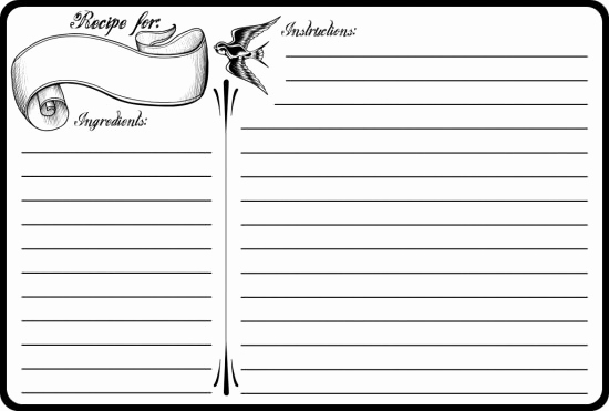 Recipe Card Templates for Word Lovely 40 Recipe Card Template and Free Printables – Tip Junkie