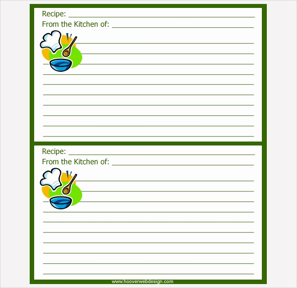 Recipe Card Templates for Word New 17 Recipe Card Templates Free Psd Word Pdf Eps