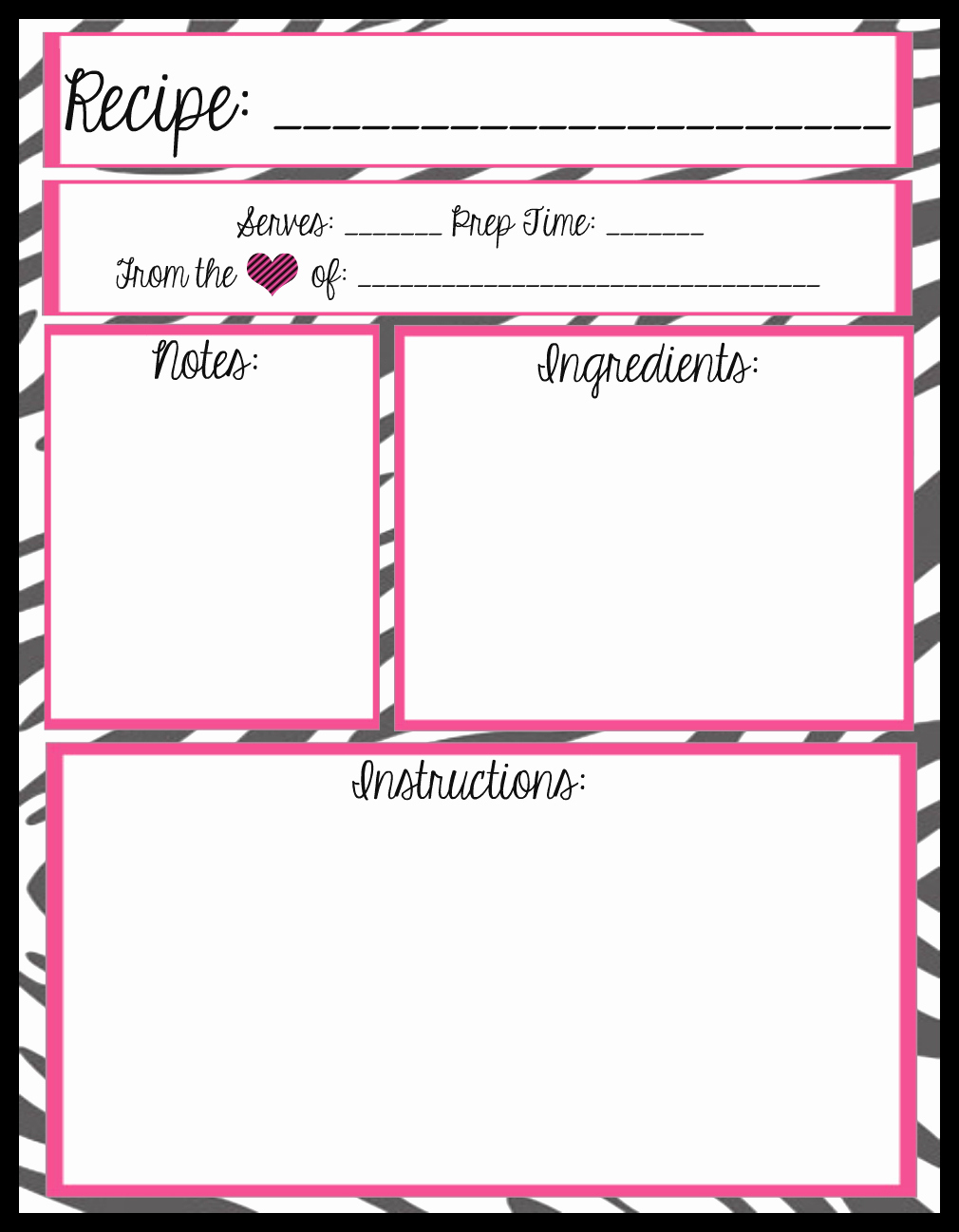Recipe Template for Word Fresh Mesa S Place Full Page Recipe Templates [free Printables]