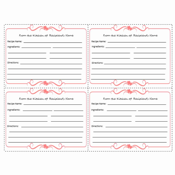 Recipe Template for Word Fresh Yummy 5 Free Printable Recipe Card Templates for