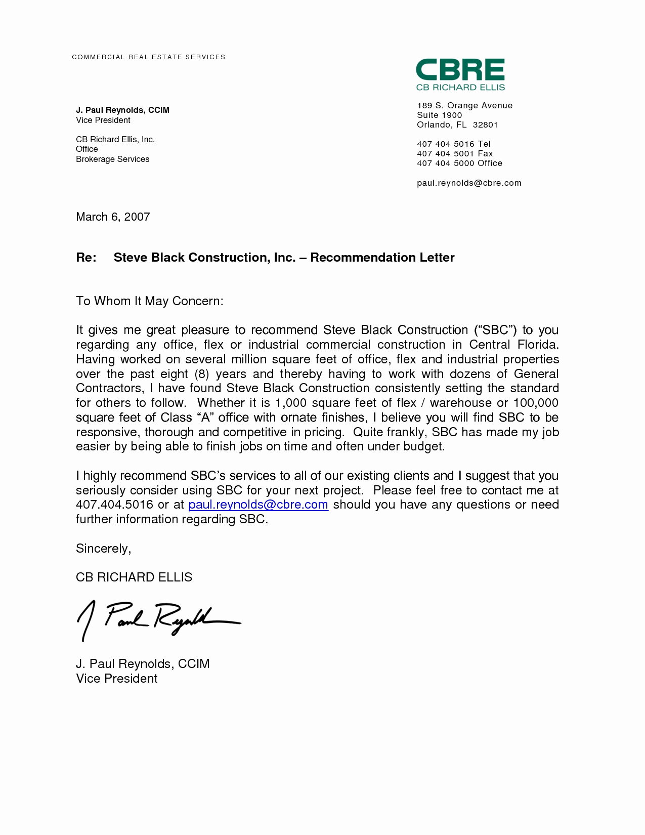 Recommendation Letter for A Job Lovely Professional Re Mendation Letter Examples