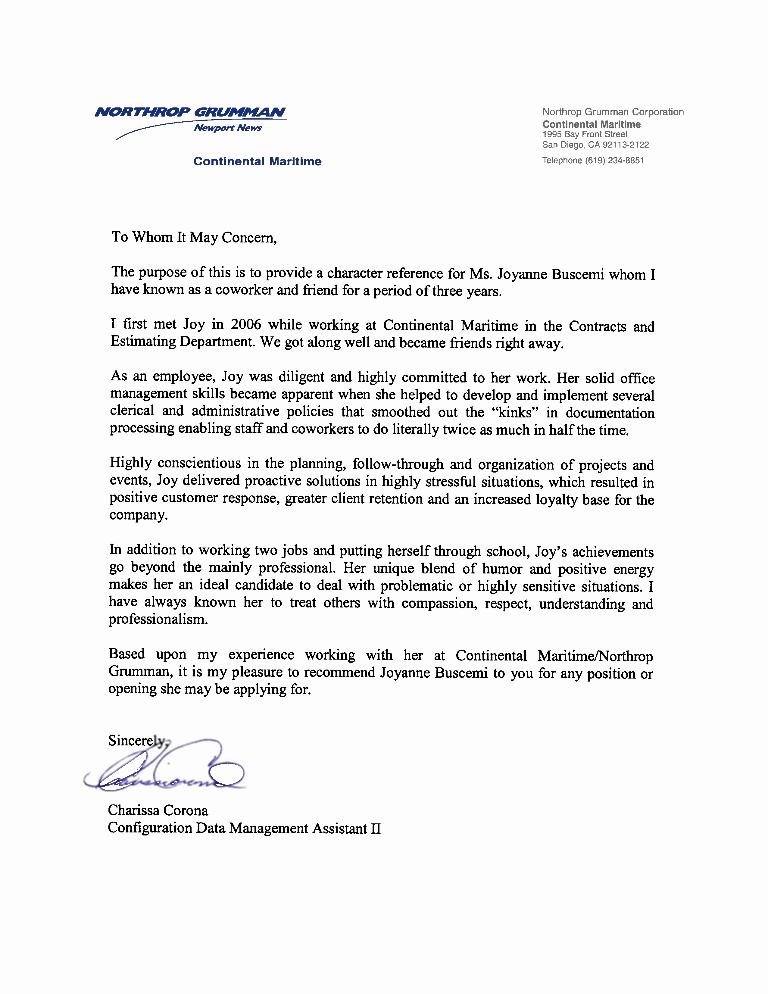 Recommendation Letter for Coworker Elegant Colleague Re Mendation Letter