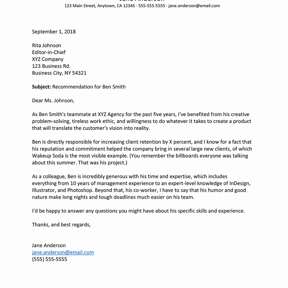 Recommendation Letter for Coworker Elegant How to Write A Letter Of Re Mendation for A Co Worker