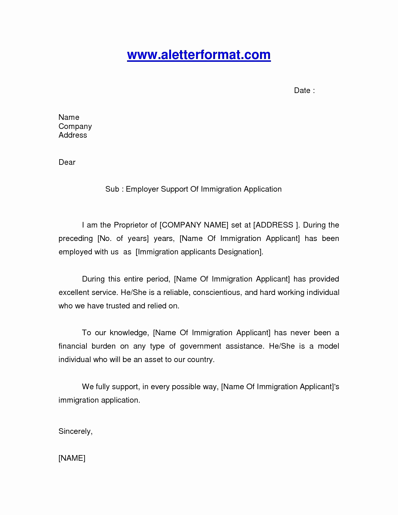 Recommendation Letter for Immigration Best Of Inspirationa Reference Letter Sample Australia Immigration