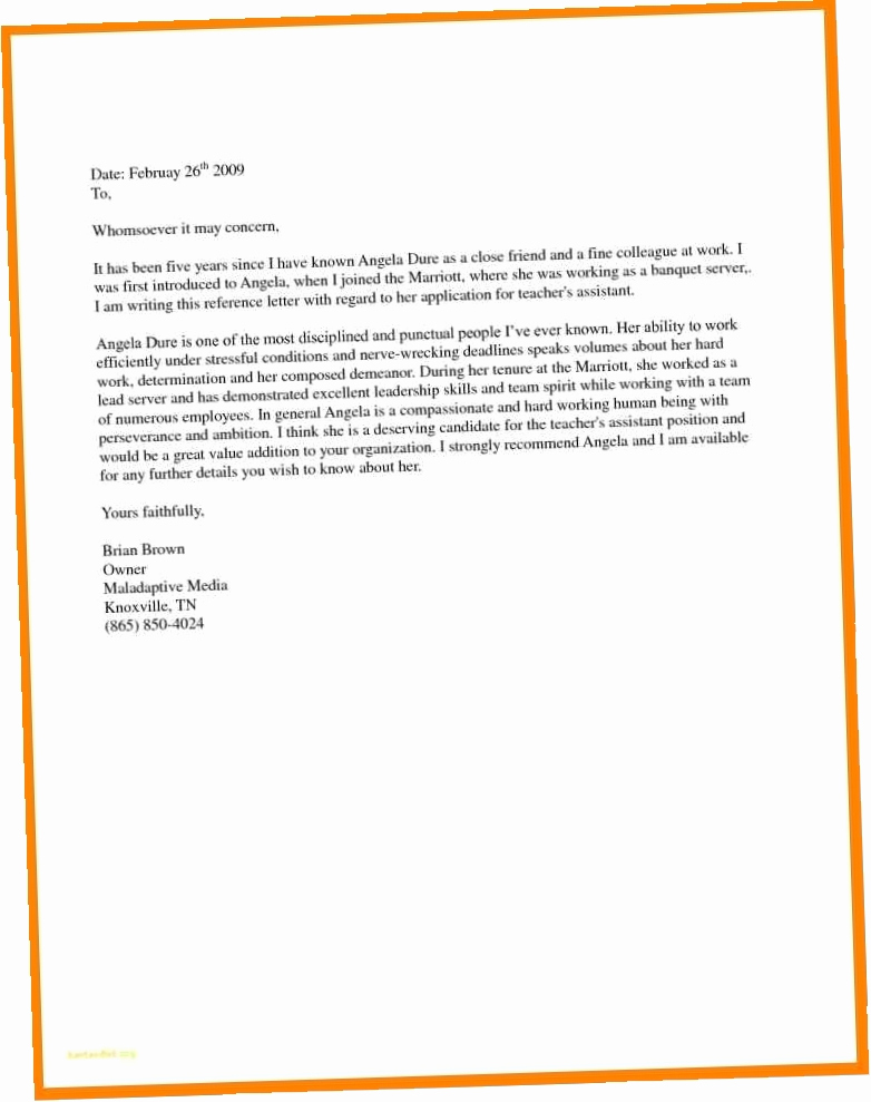 Recommendation Letter for Immigration Inspirational 9 10 Letter From Friend for Immigration